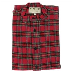 Magee Men's Highland Check Brushed Cotton Nightshirt - Royal Stewart Design