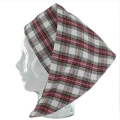 Magee Men's  Red and White  Check Nightcap - Dress Stewart Design