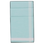 Gift Box Of 6 Ladies Handkerchiefs In Pale Green With Satin Border