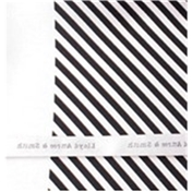 Silk Pocket Handkerchief - Black and White Diagonal Stripes
