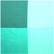 Silk Pocket Handkerchief - Four Quaters With Borders Of Opposite Colours -Turquoise