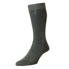 Pantherella Merino Wool Socks - Mid Grey