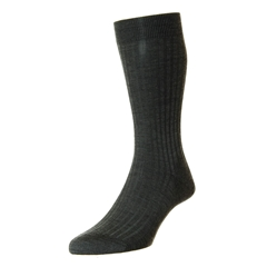 Pantherella Merino Wool Socks - Dark Grey
