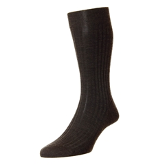 Pantherella Merino Wool Socks - Dark Brown