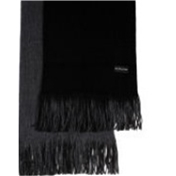 Black / Grey Reversible Acrylic Fashion Scarf
