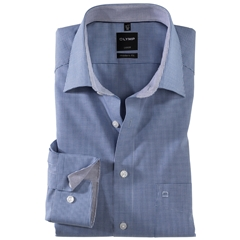 Olymp Modern Fit Shirt - Navy Blue Check