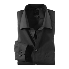 Olymp Modern Fit Extra Long Sleeve Shirt - Black
