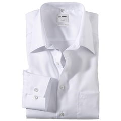 Olymp Comfort Fit Shirt - White - 0250 64 00