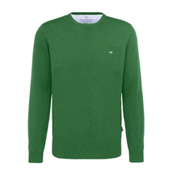 Fynch Hatton Superfine Cotton Crew Neck - Grasshopper - Size Medium Only