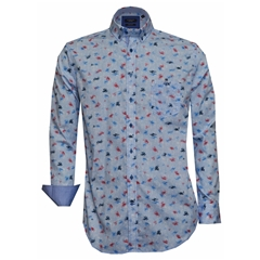 Giordano Shirt - Blue Abstract - Regular Fit