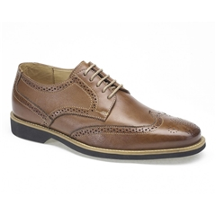 Anatomic & Co Derby Brogue Shoes - Tucano - Cognac Brown Floater