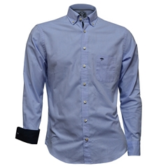Fynch Hatton Shirt - Soft Oxford Blue - Size Medium Only