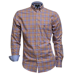 Fynch Hatton Shirt - Supersoft Twill - Fox Blue - Size Medium Only