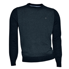Fynch Hatton Wool & Cashmere Crew Neck - Navy