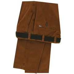 m.e.n.s. Luxury Cotton Chino Trouser - Rust