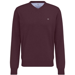 Autumn 2018 Fynch-Hatton Wool & Cashmere V Neck - Oxblood - Size XXL Only