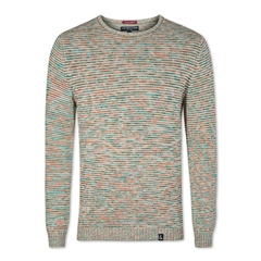 Colours & Sons Mouline Sweater - Orange and Green