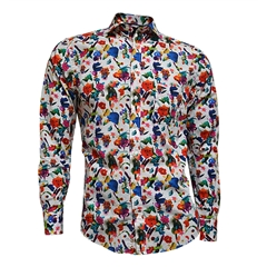 Fynch Hatton Shirt - Multicolour Floral Print