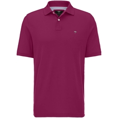 Fynch Hatton Cotton Polo Shirt - Berry