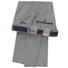 Meyer Textured Cotton Trouser - Taupe Grey - Chicago 5013 06