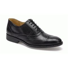 Anatomic & Co Oxford Brogue Shoes - Charles II - Black Touch