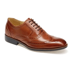 Anatomic & Co Oxford Brogue Shoes - Charles II - Havana Brown Touch