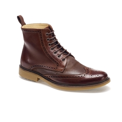 Anatomic & Co Brogue Laced Boots - Antonio - Burgundy Touch