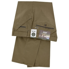 Meyer Cotton Chino Trousers Khaki - Chicago 5545 42