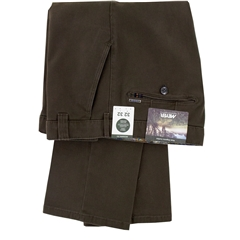 New 2020 Meyer Cotton Twill Trouser - Dark Olive - Rio 3521 36