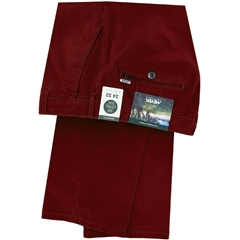 New 2020 Meyer Cotton Twill Trouser - Brick Red - Rio 3521 55