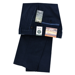 New 2021 Summer Meyer Cotton Trouser - Navy  - New York 5001 20