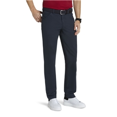 New 2021 Meyer Micro Structure Cotton Chino Trouser - Navy - Chicago 5039 19