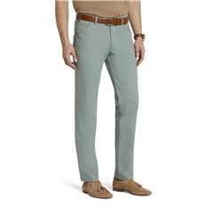 New 2021 Meyer Micro Structure Cotton Chino Trouser - Green - Chicago 5039 24
