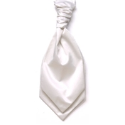 Men's Satin Wedding Cravat- White
