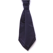 Men's Satin Wedding Cravat- Navy