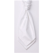 Men's Shantung Wedding Cravat- White