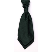 Men's Shantung Wedding Cravat- Bottle Green