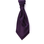 Men's Shantung Wedding Cravat- Purple