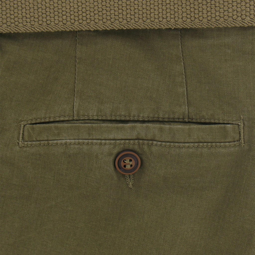 Gurteen Summer Cotton Trouser - Olive - Longford 1213 012