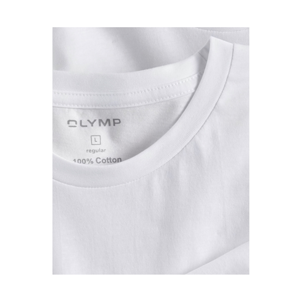 Olymp T-shirt White Crew Neck - Double Pack