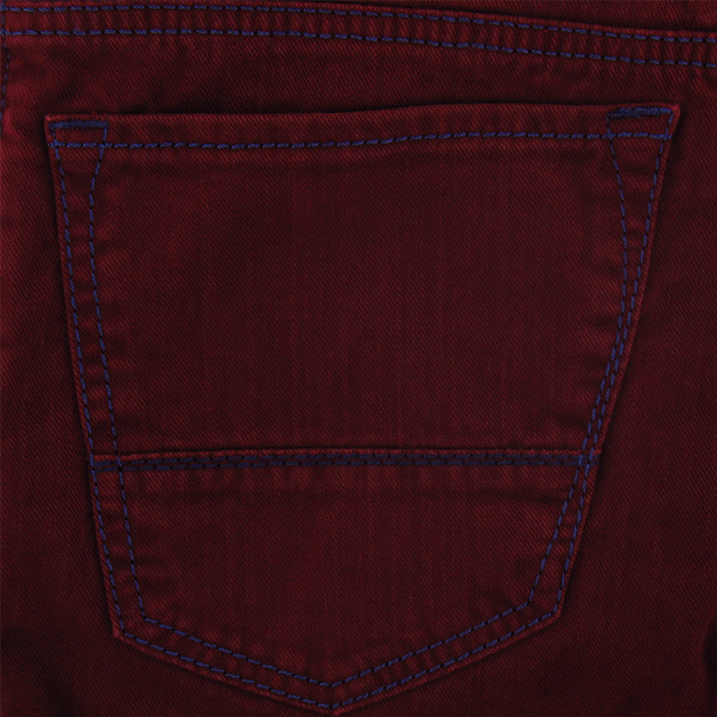 "Meyer Luxury Stretch Denim Jean - Burgundy - Arizona-S 3603 56 - Size 34""L Only"