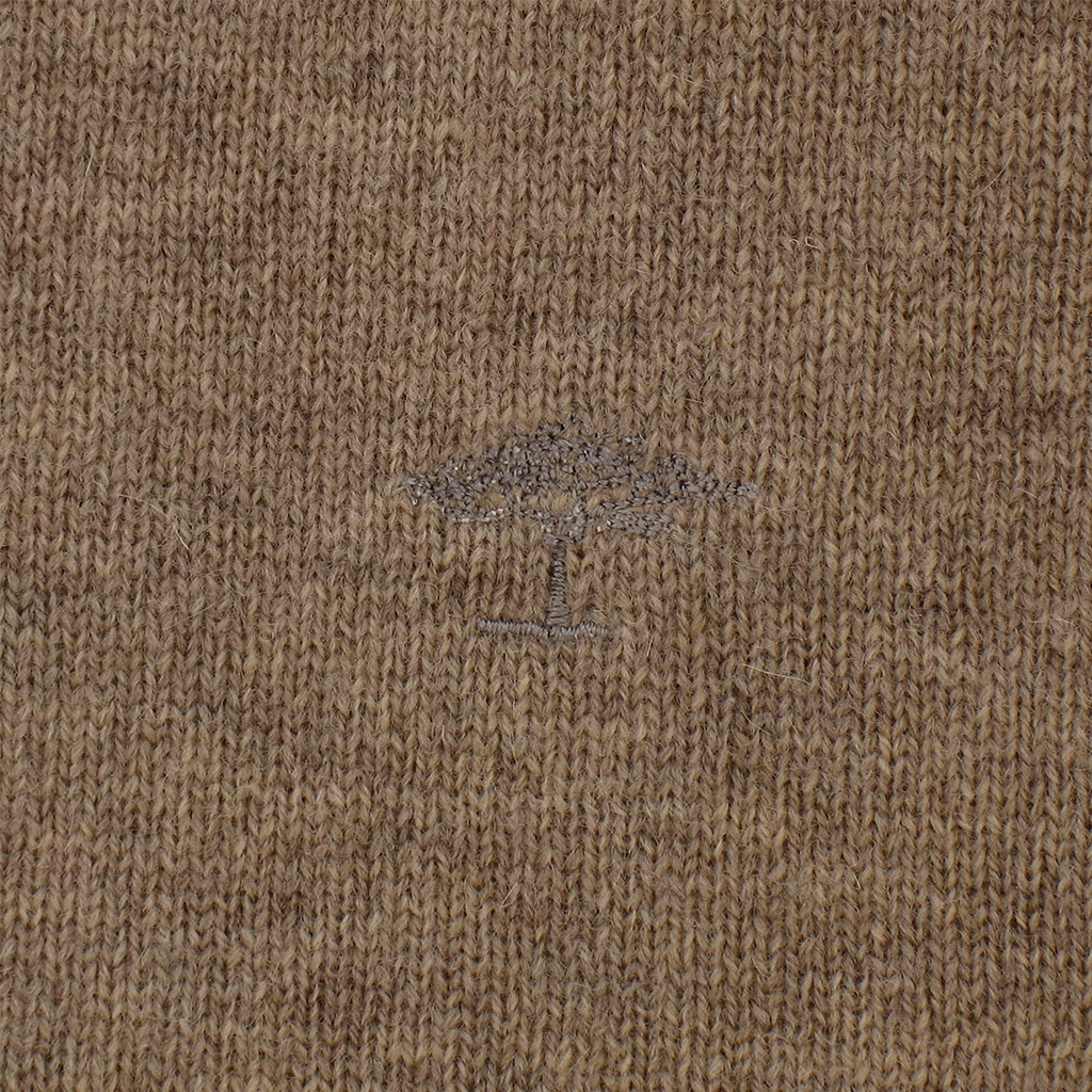Fynch-Hatton Wool & Cashmere Crew-Neck - Nut - Size XXL Only