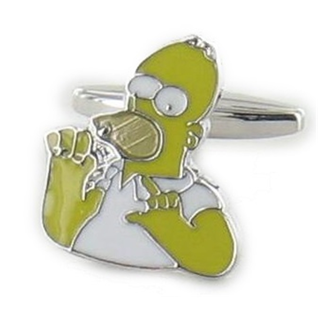Homer Simpson Cufflinks - Homer Simpson Design Cuff Links