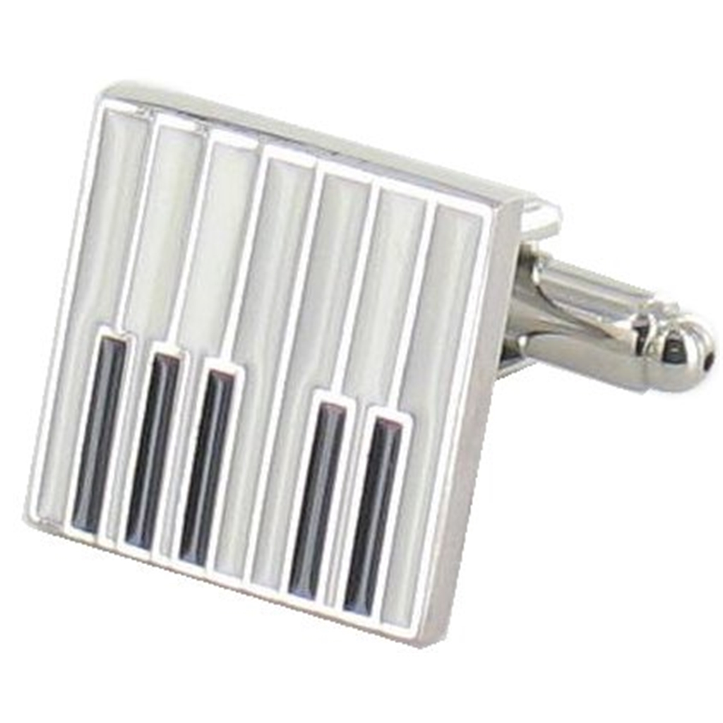 Piano Cufflinks - Piano Design Cuff Links