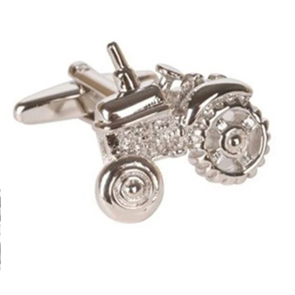 Tractor Cufflinks - Tractor Design Cuff Links - Farmer Cufflinks