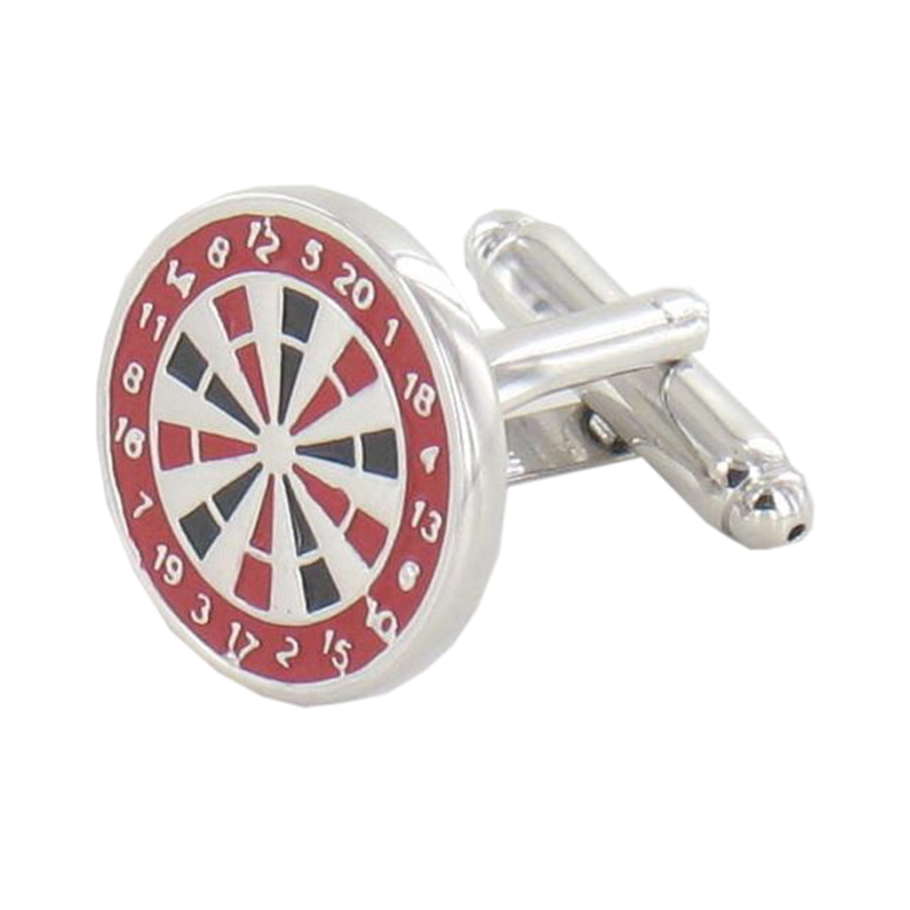 Darts Cufflinks - Dart Board Design Cuff Links