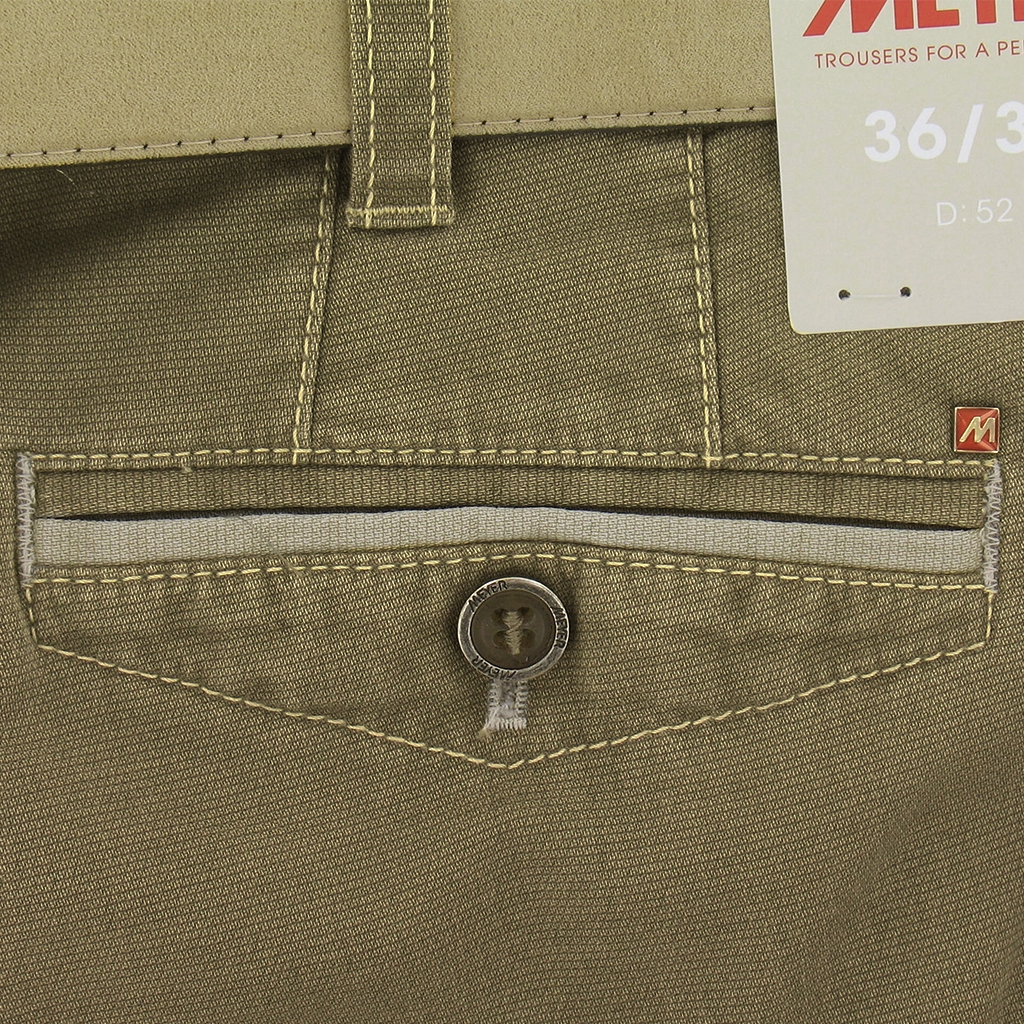 "Meyer Trousers Lightweight Textured Cotton - Camel - Chicago 5119 42 - Size 50""R Only"