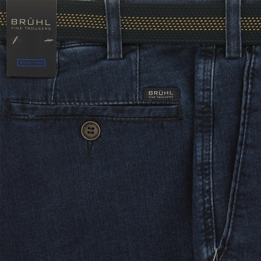 Spring 2019 Bruhl Light-Weight Denim Trouser - Blue - Montana 190500 925