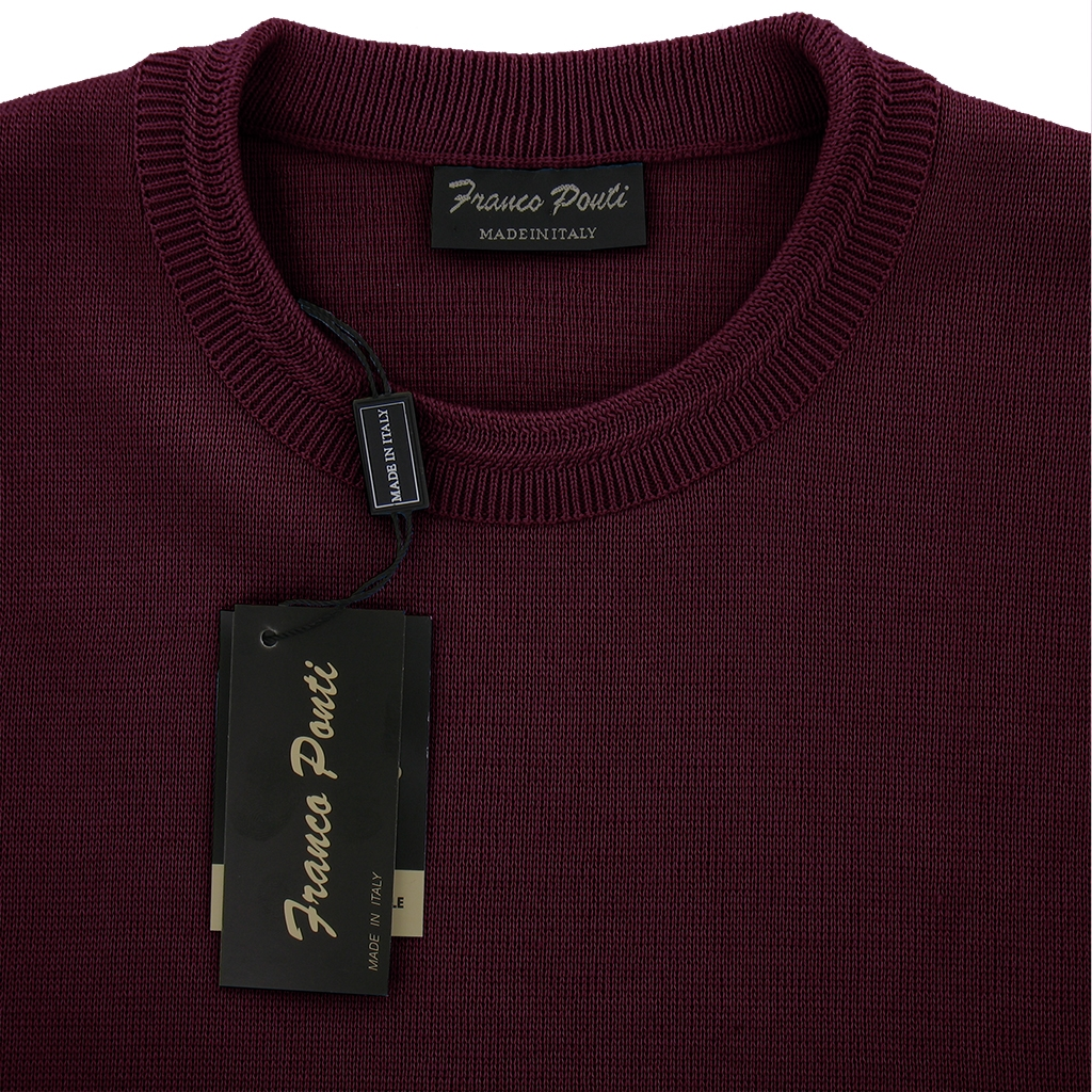 Franco Ponti Crew Neck Sweater -  Damson