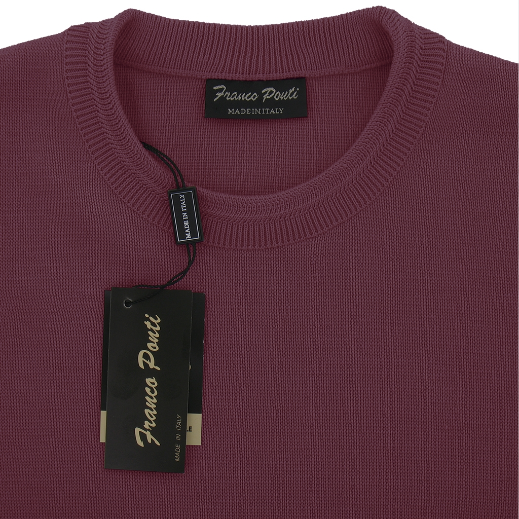 Franco Ponti Crew Neck Sweater -  Lilac